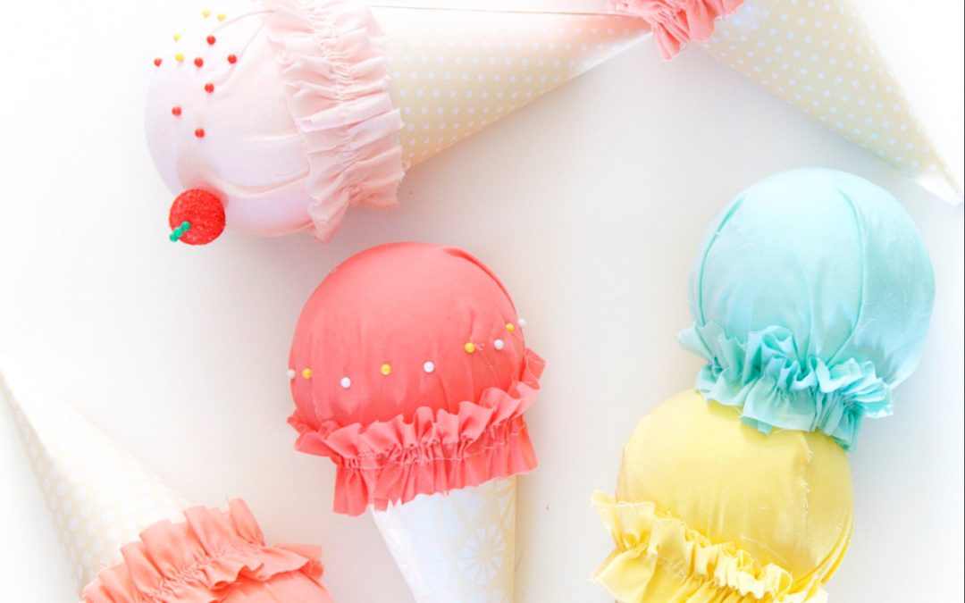 Girls Bedroom Ideas | Fun DIY Ice Cream Cones